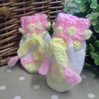 Baby Girl's Mittens  0-9 months size