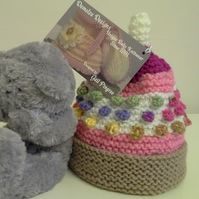 Baby Girl's Bobble Hat 3-9 months size
