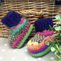 SALE ITEM Unisex Baby Booties  0-6 months size