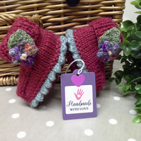 Luxery Baby Girl's 'Jeager' Wool  Booties 0-3 months