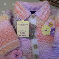 Baby Girls Knitted Jacket-Cardigan  3-12 months
