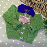 SALE ITEM Baby Boys Knitted Cardigan  3-9 months size