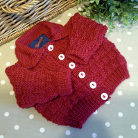 Luxery  Unisex Baby Cardigan 75% Marino Wool  3-9  months size