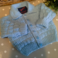 Baby Boy's  Blue Cardigan  3-9  months size