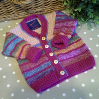 Baby Girl's Multicoloured V Neck  Cardigan  9-18 months size