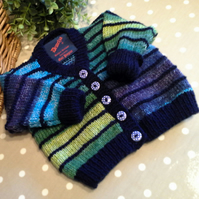 Baby Boy's  V Neck Multicoloured Cardigan  3-9 months size