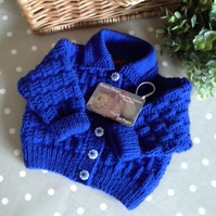 Baby Boy's Royal Blue Cardigan 3-9 to months size