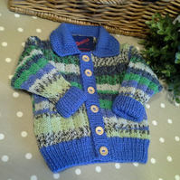 Luxery Baby Boys Cardigan with Cotton and  Wool  3-9 months size