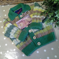 Luxery Baby Boy's Cardigan with Cotton and Wool  3-9 months size