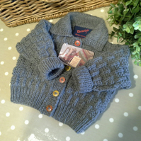 Baby Boy's Gray Cardigan  3-9 months size
