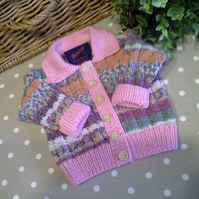 Luxery Baby Girls Cardigan with Wool & Cotton  3-9 months size