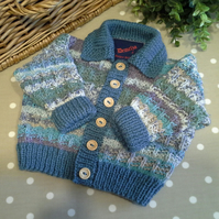 Baby Boy's Luxery Cardigan with wool and cotton  3-9 months size