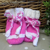 Baby Girl's Mittens  0-6 months size