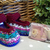 Unisex Baby Hand Knitted Shoes   0-6 months
