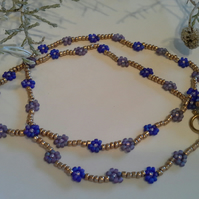 Dainty Daisy Seed Bead Chain Gold Finish