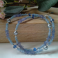 Tanzanite, Shell Pearls,  Faceted Crystal & Seed Bead Necklace Silver Plate
