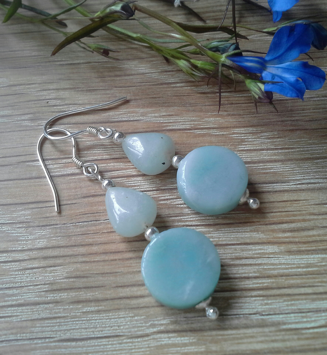 Russian Amazonite Sterling Silver Earrings