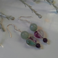 Rainbow Fluorite, Amethyst & Aventurine Sterling Silver Earrings