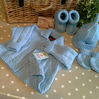 Baby Boy's Complete Layette Set  0-6 months size
