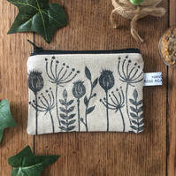 Handmade wild flower coin purse - purses - card holder