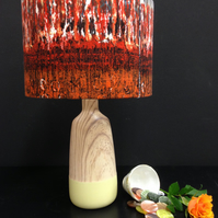 Striking vintage fabric lampshade