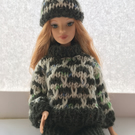 Jumper, Trousers and Hat set for Barbie