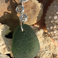 Sea Glass & Sterling Silver Necklace