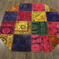 Patchwork Hand made 100% Wool Rug