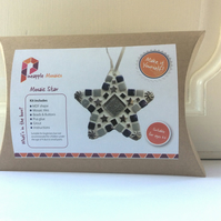 DIY Mosaic Christmas Decoration, Mosaic Craft Kit, Kids Crafts, Christmas Crafts