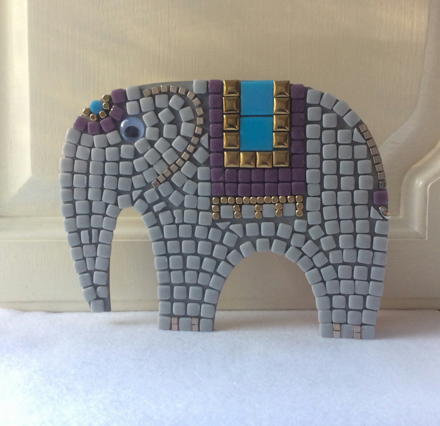 Mosaic Craft Kit, Elephant, Kids Craft Gift, Stocking Filler