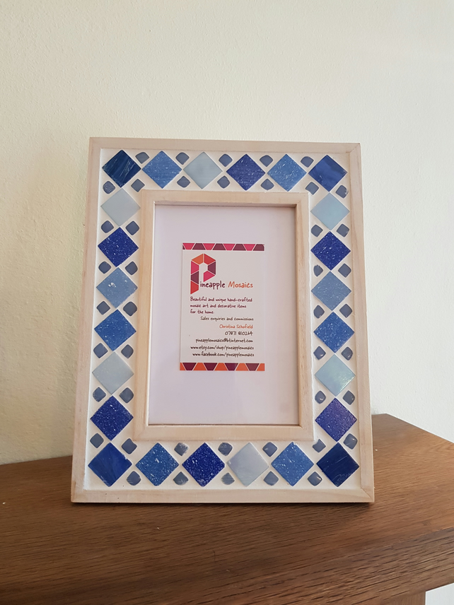Blue Mosaic Photo Frame 6x4 Quot Picture Frame Folksy