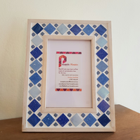 "Blue Mosaic Photo Frame 6x4"" Picture Frame"