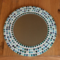 Mosaic Wall Mirror Round 30cm Green Bathroom Mirror