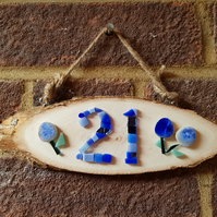 Mosaic House Number Sign