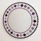 Mosaic Wall Mirror Round 30cm in Purple & Grey Bathroom Mirror FREE P&P