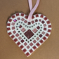 Pink Mosaic Heart, Pink Wall Art, Heart Decor, Love Heart, Heart Gift, Glass Art