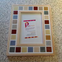 "Mosaic Photo Frame  6x4"" Colourful Picture Frame, Christmas Gift"