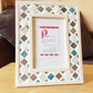 "Mosaic Photo Frame  6x4"" Turquoise, Brown, Cream Picture Frame, Christmas Gift"