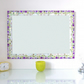 Mosaic Wall Mirror in Purple, Green & Cream Large 50x70cm