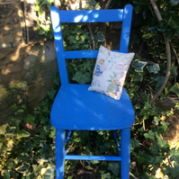 Vintage Childs Upcycled chair with little cushion Beatrix Potter 1950's Fabric