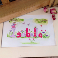 Personalised child's name painting