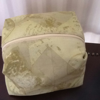 Shaped makeup bag