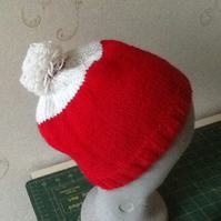 Red and white Bobby hat