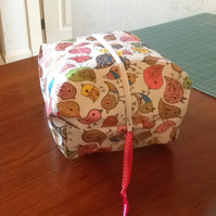 Oilcloth toiletry bag