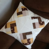 On point patchwork cushion
