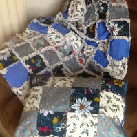 Rag quilt and pillow
