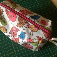 Pretty oilcloth makeup bag