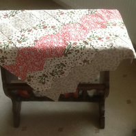 Colourful half hexi small table cover.