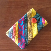 Stripped batik glasses case
