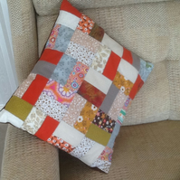 Fun scrappy cushion